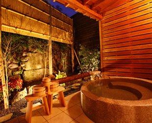 贅沢に温泉とプライベートを満喫。全ての客室に露天風呂