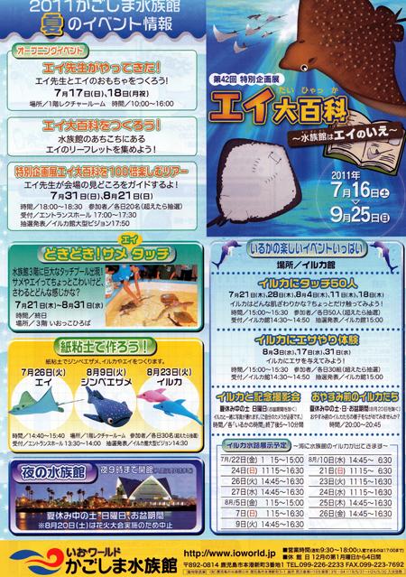 いおワールド 鹿児島水族館 夏のイベント情報