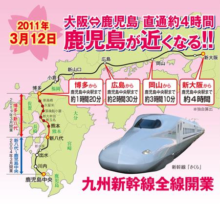 九州新幹線 鹿児島旅行