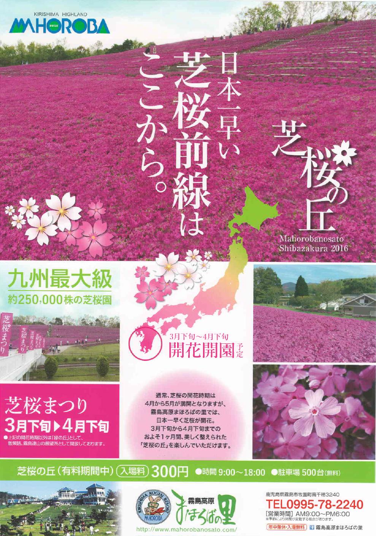 霧島高原まほろばの里 芝桜の丘のお知らせ